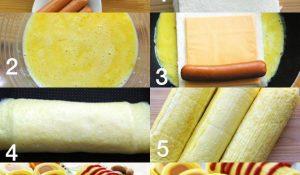 Cách làm xúc xích phô mai ăn sáng cho các bé