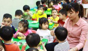 Bếp ăn tại các trường mầm non và những tiêu chuẩn cần có