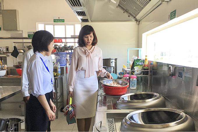 công tác kiểm tra vệ sinh an toàn thực phẩm ở trường mầm non